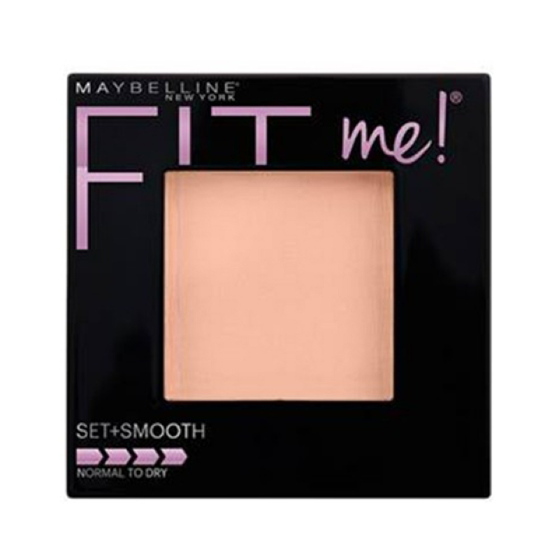 Maybelline Face Powder Fit Me Two Way Cake Set+Smooth - 125 Nude Beige