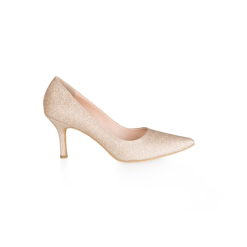 Armira High Heels Pointed Toe Shoes Light Gold