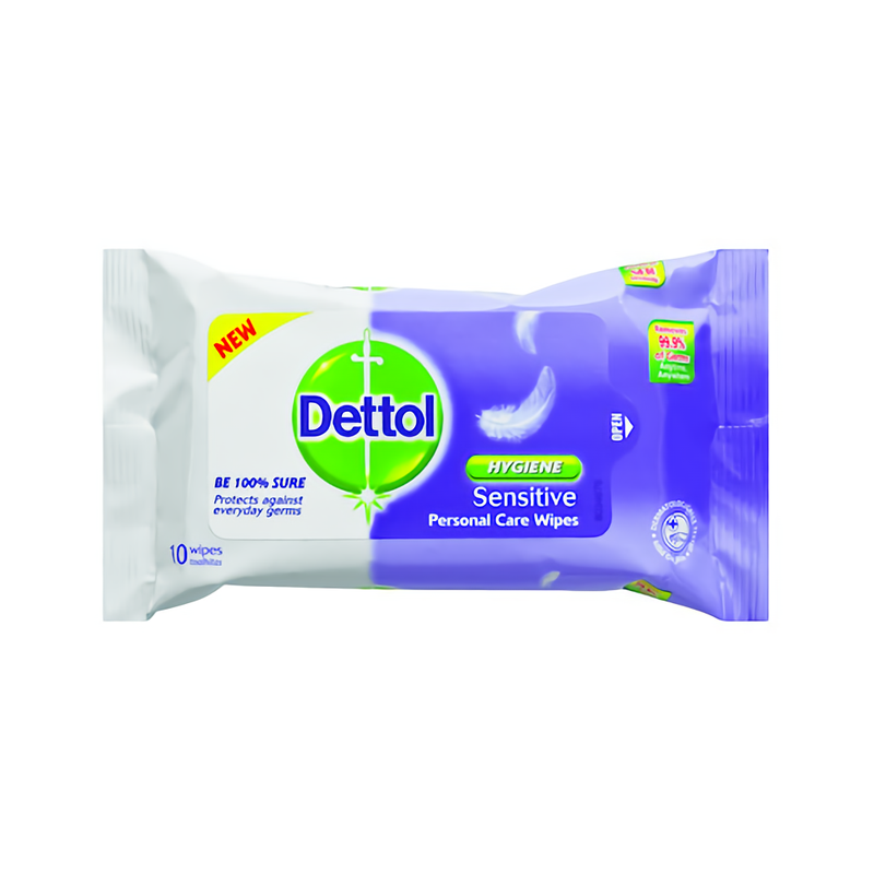 Dettol Tisu Basah Sensitive 10 Sheet