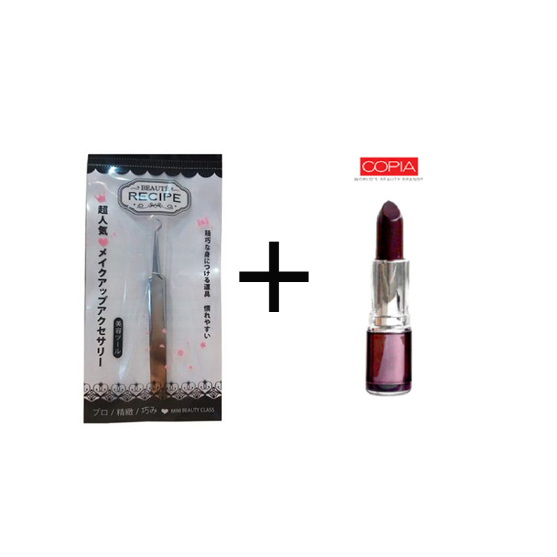 Beaute Recipe Acne Clip 1663-1 + Be Matte Lipstick Grape Wine