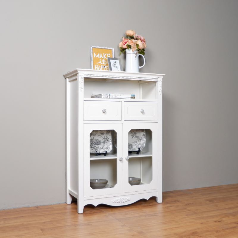 The Olive House  Rosemarry High Glass Cabinet