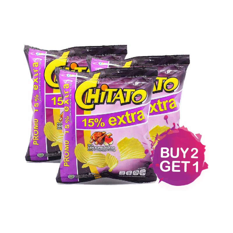 Chitato Spicy Grilled Beef 35 Gr (Buy 2 Get 1)