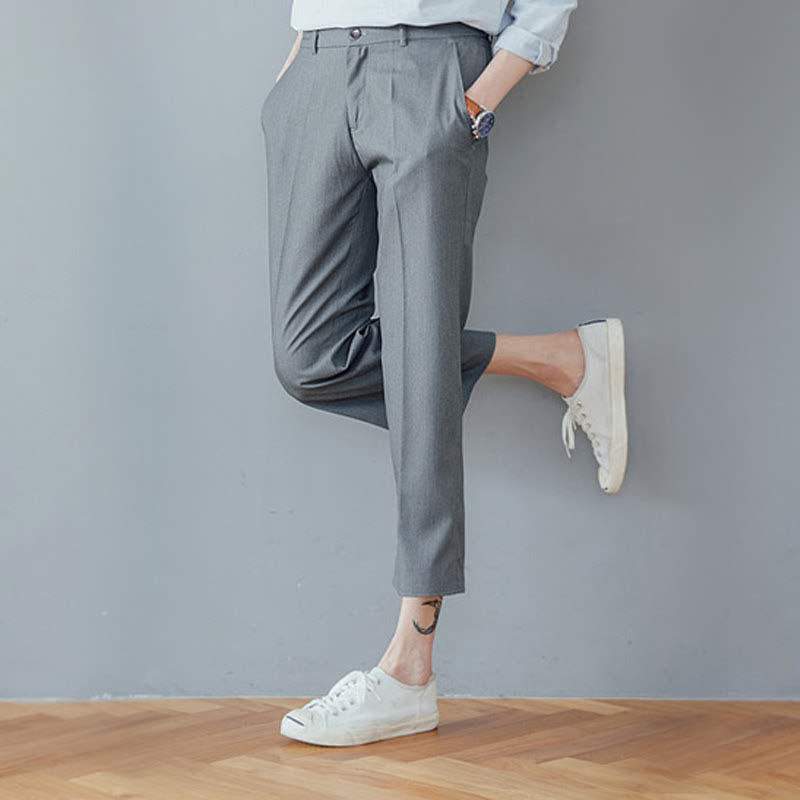 AV_Wide Banding Slacks - Grey