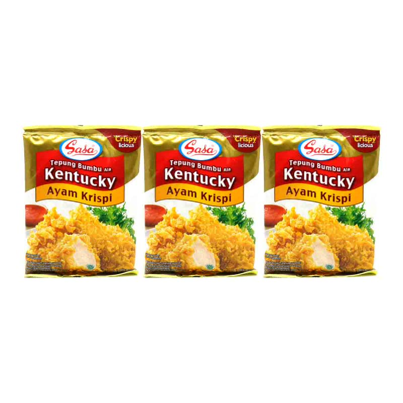 Sasa Tepung Bumbu Ayam Kentucky 250 Gr (Buy 2 Get 1)