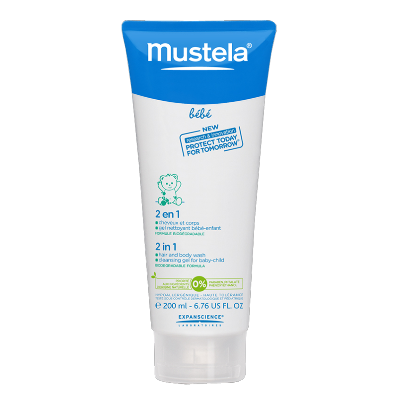 Mustela 2 In 1 Hair And Body Wash 200 Ml