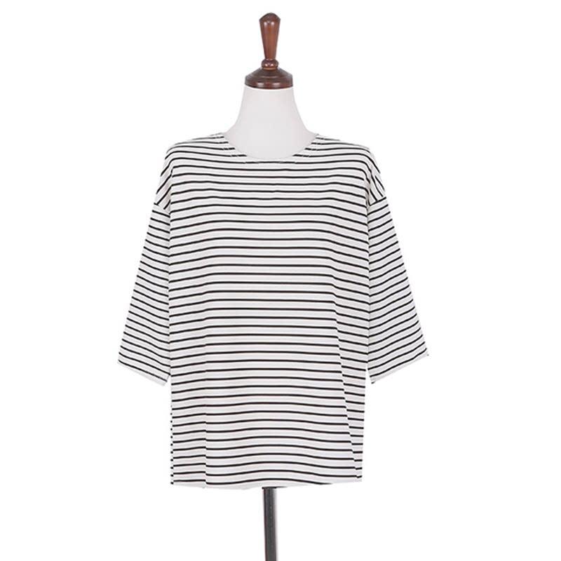 Belly Stripe Shirt - IVORY
