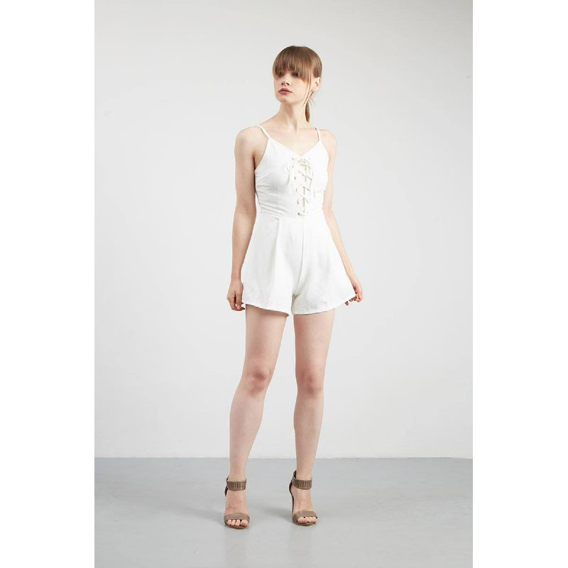 Gwen Kappel Playsuit in White