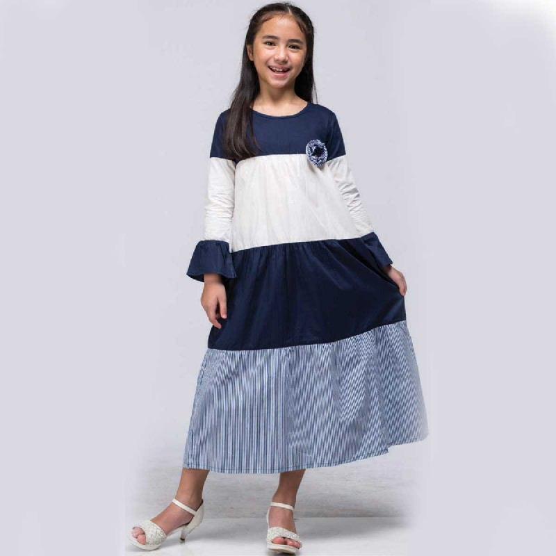 Barbie Gamis Lebaran Navy Size Xl