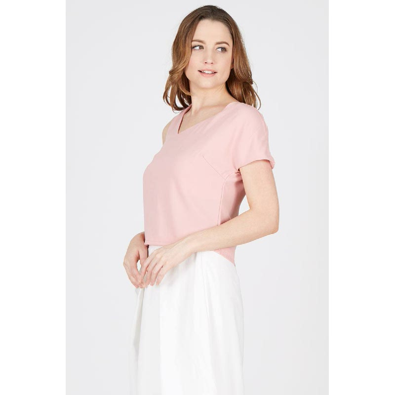 TS Short Sleeve Blouse Pink