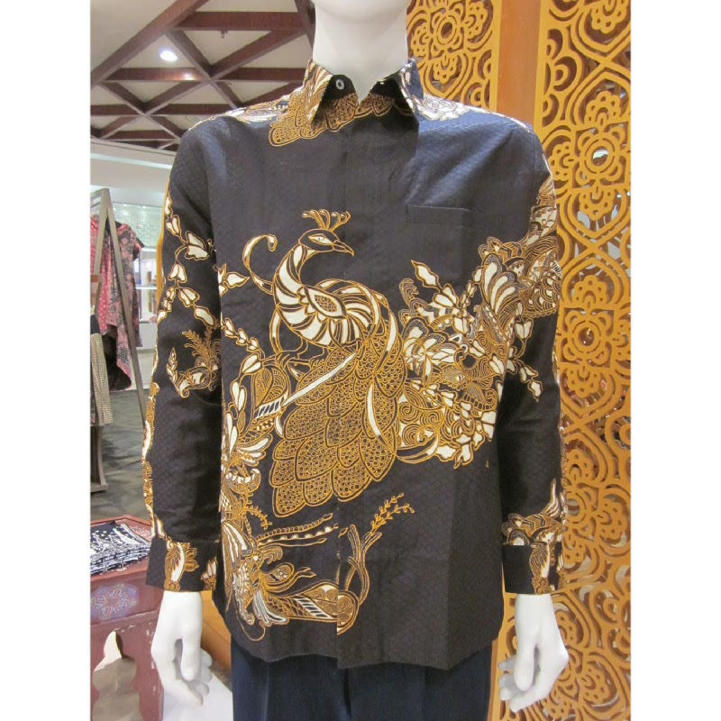 Batik Semar Hem Panjang Sekar Srempang 52 Sogan Coklat (SML)