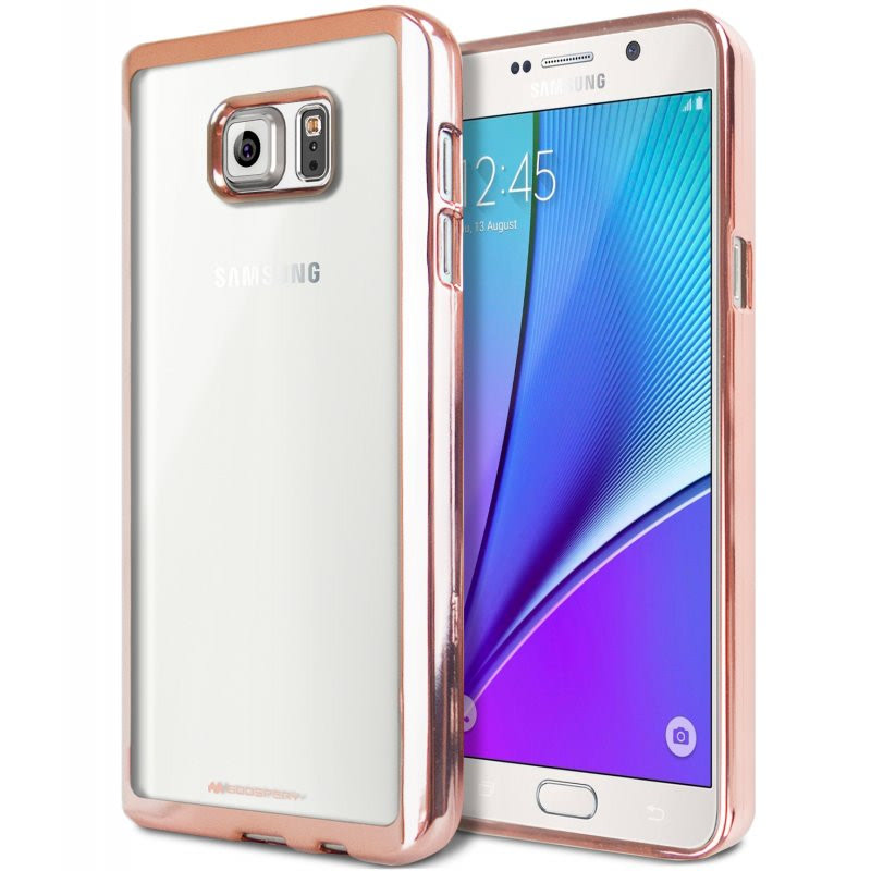 Goospery Ring 2 Jelly for Galaxy Note 5 - Rose Gold