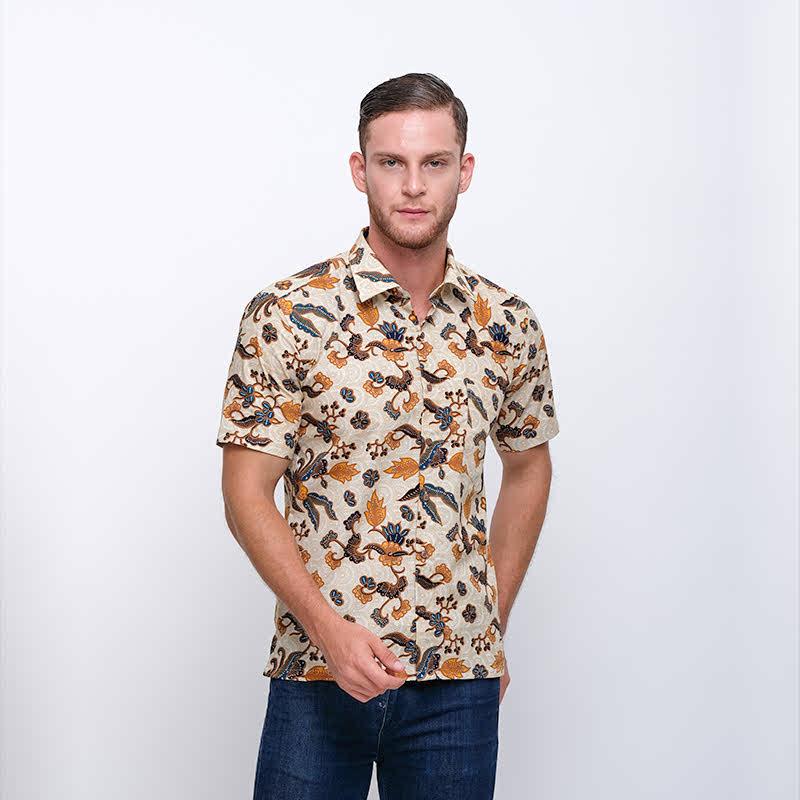 Gianni Visentin Slim Shirt Coklat