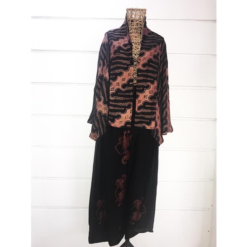 Batik Chic Celana Popok Wayang Coklat Hitam