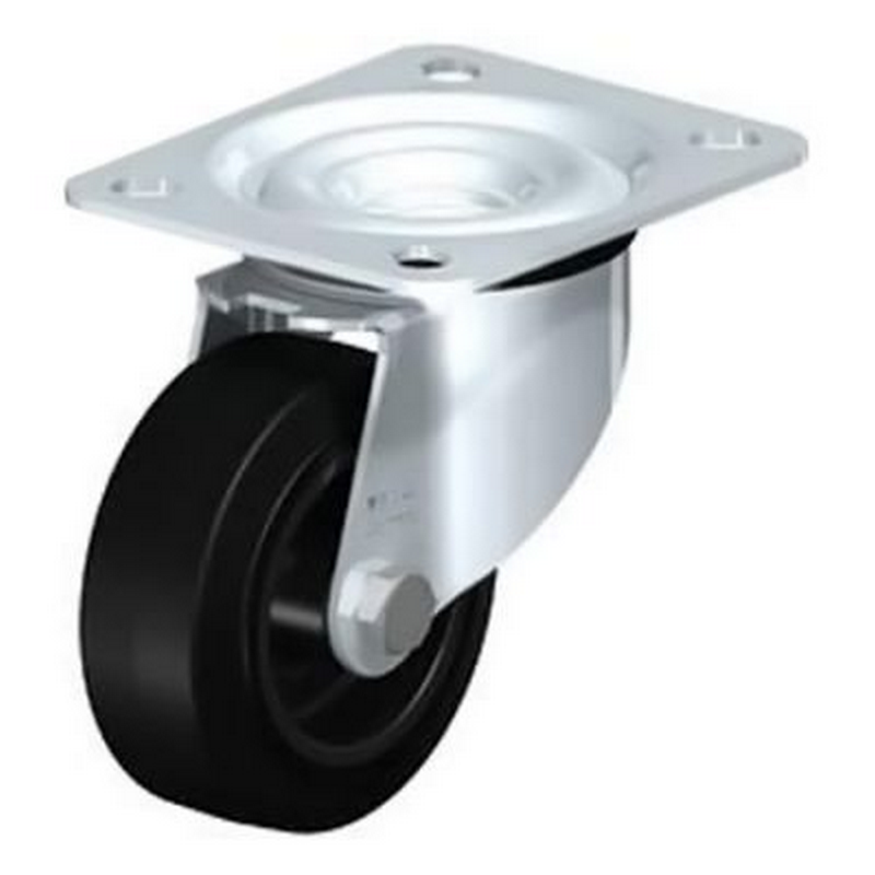 LE-POEV 80G Wheel with Elastic Solid Rubber Tyre Swivel Castors LE-POEV 161K