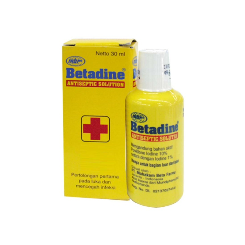 Betadine Antiseptic Solution Botol 30Ml