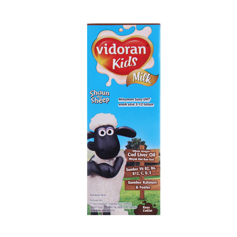 Vidoran Uht Kids Coklat Tp 180ml