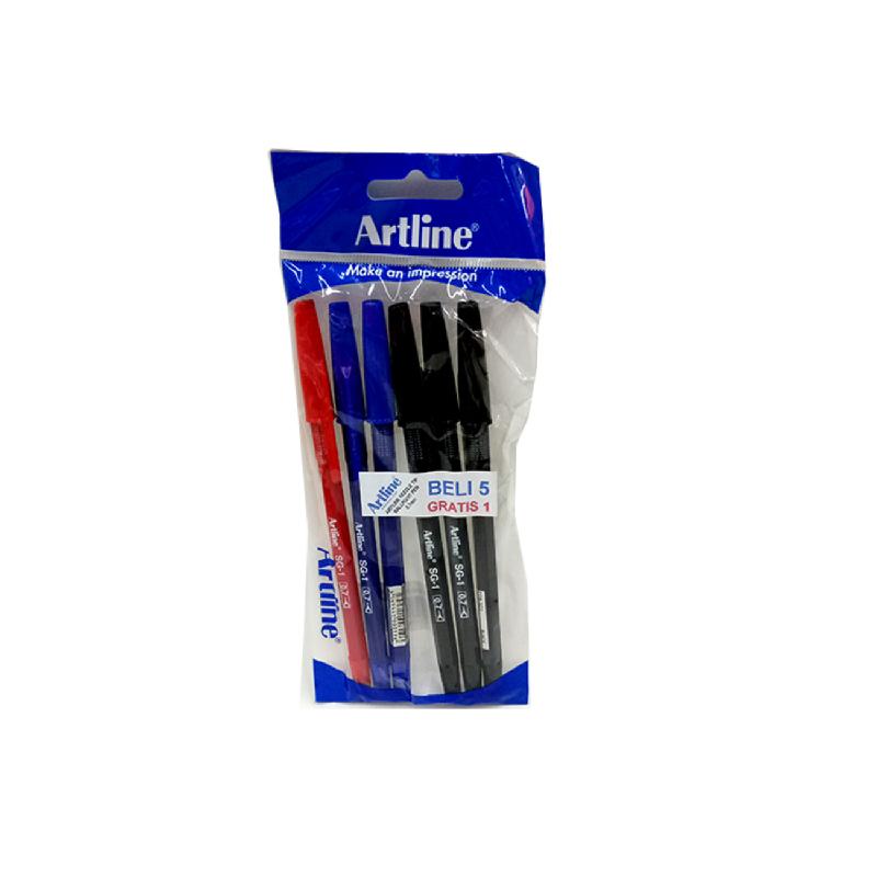 Artline Ballpoint Egb-Sg1 Isi 5 (2 Black)