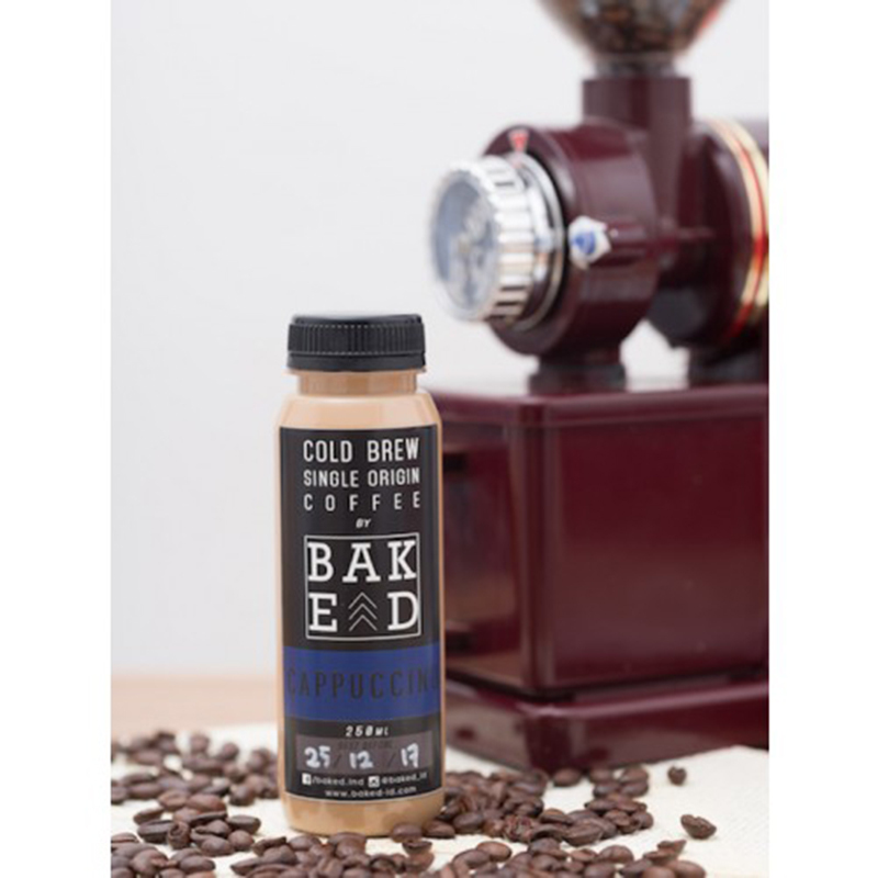 Baked Indonesia - Cappucino Cold Brew Coffee (isi 4 botol)