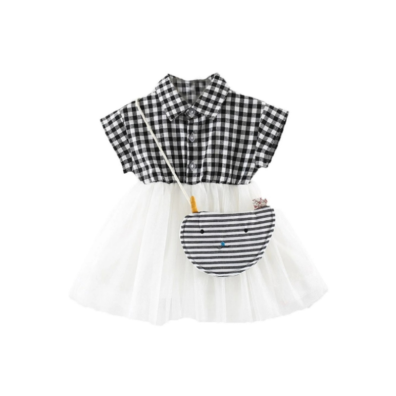 BabyLand Checkered Tulle Dress CTD001