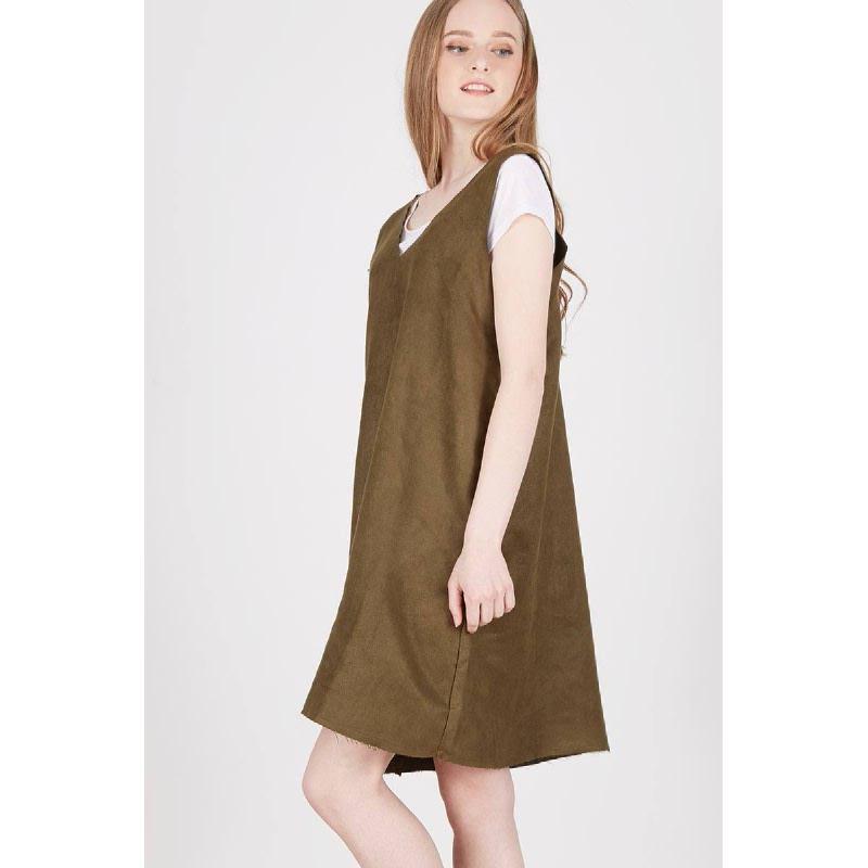 Priska Slip Dress Green