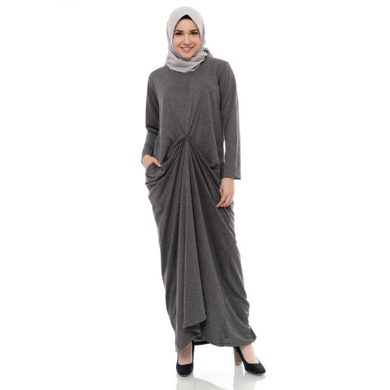Mybamus Messy Long Dress Dark Gray Misty M14857 R24S2