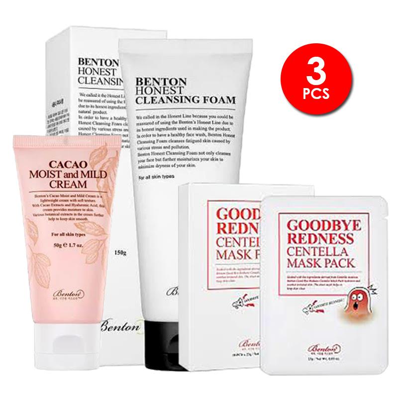 Benton Cacao Moist And Mild Cream + Benton Honest Cleansing Foam + Benton Centella Mask Pack 300g
