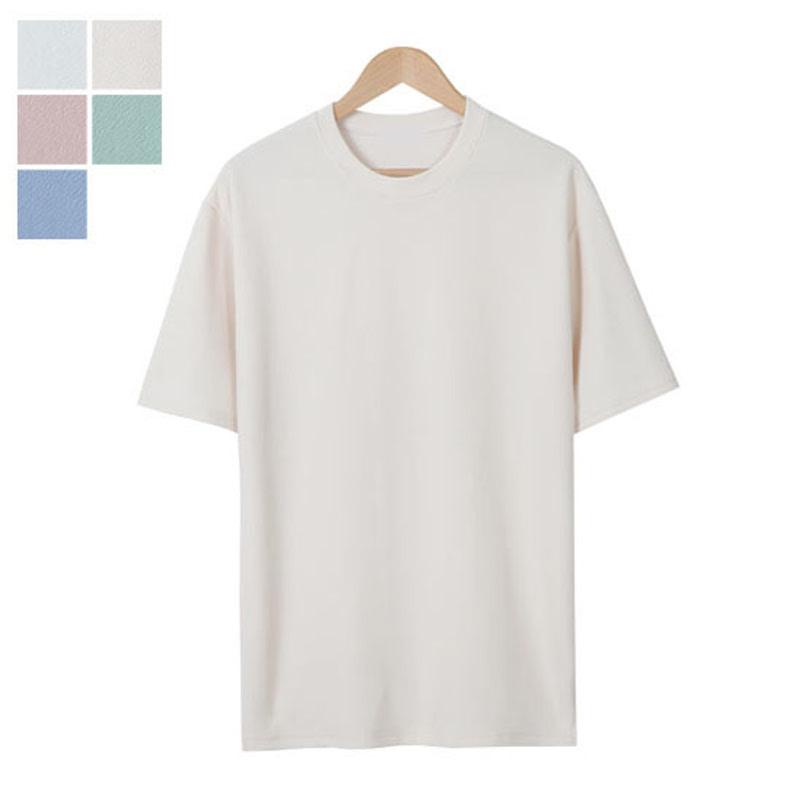 LW_River Round Short Sleeve T-shirt - Beige