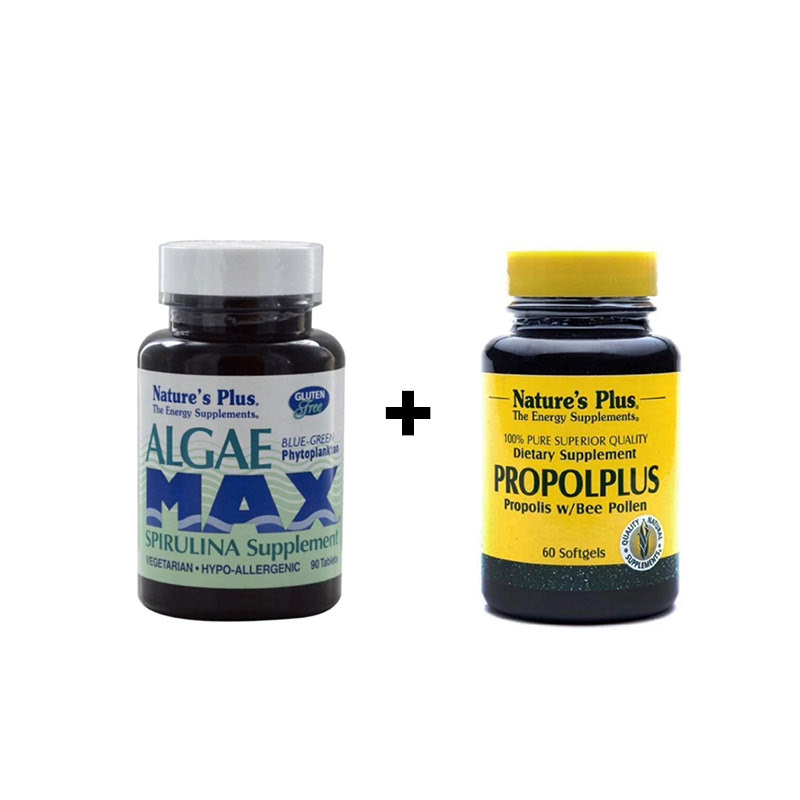 Algae Max - 90 Tablets + Propolplus - 60 Softgels