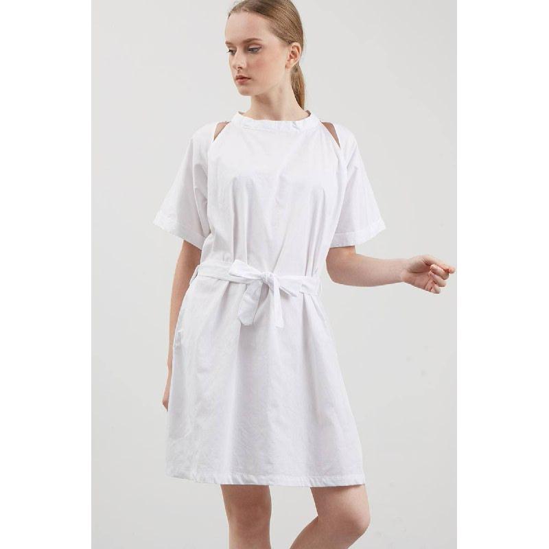 Sybil bow Dress White