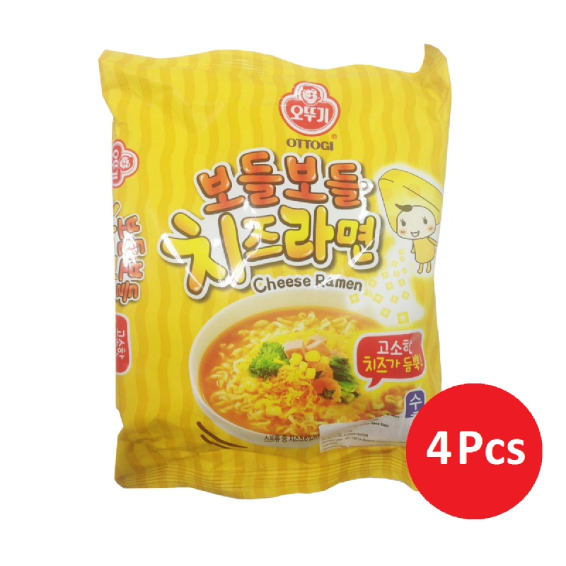 OTTOGI Cheese Ramen 111G (4 Pcs)
