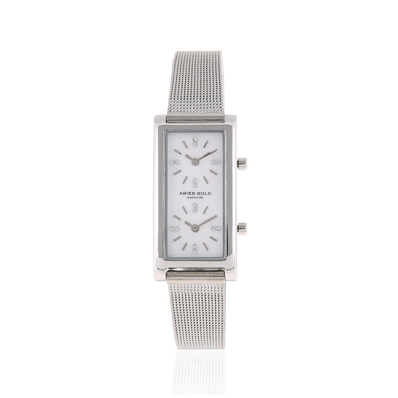 Aries Gold L 136 S-MOP Stainless Steel Women Watch Silver