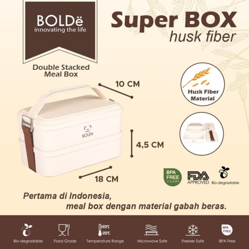 BOLDe Super Box Husk Fiber - Double Stacked MB-188