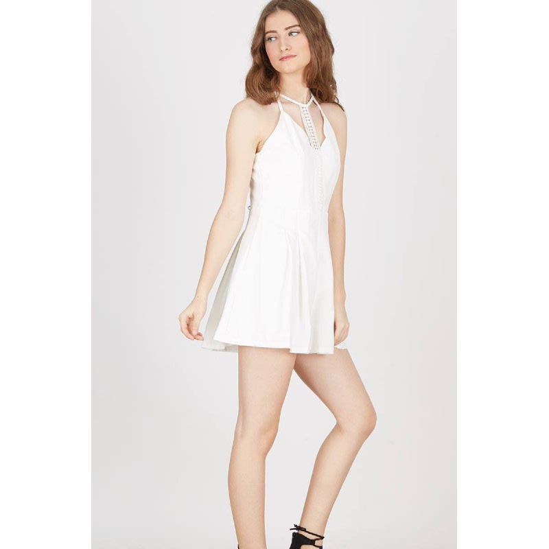 Gwen Karben Playsuit in White