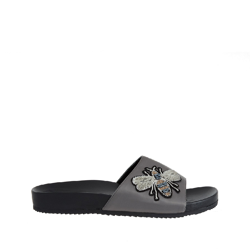 Andre Valentino Candy Sandals Black