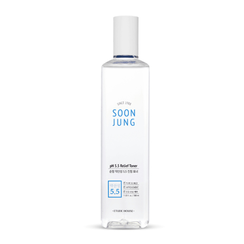Etude House Soon Jung pH 5.5 Relief Toner - Big Size (350ml)