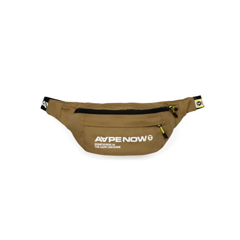 AAPE Logo Waist Bag - BROWN