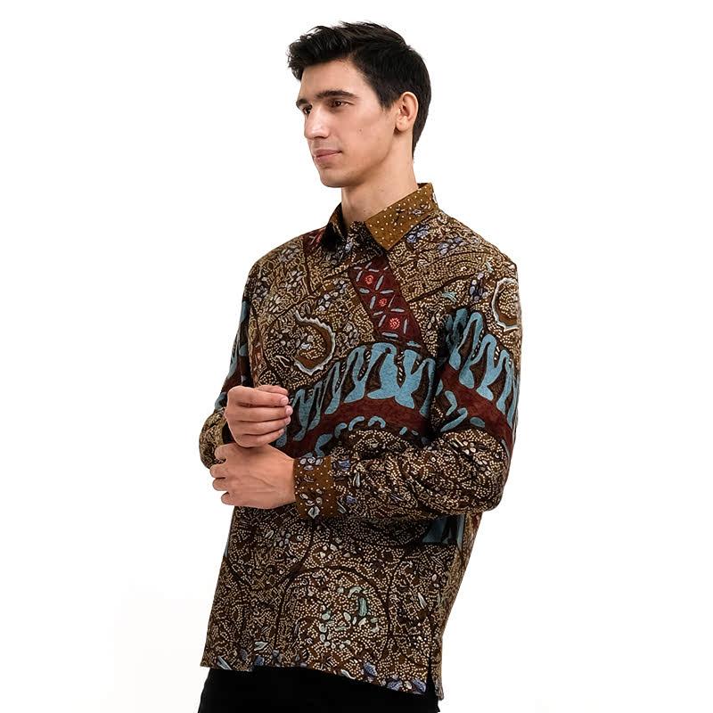 Batik Semar Full Fr Atbm Tl Brn Tanahan Shirt Brown