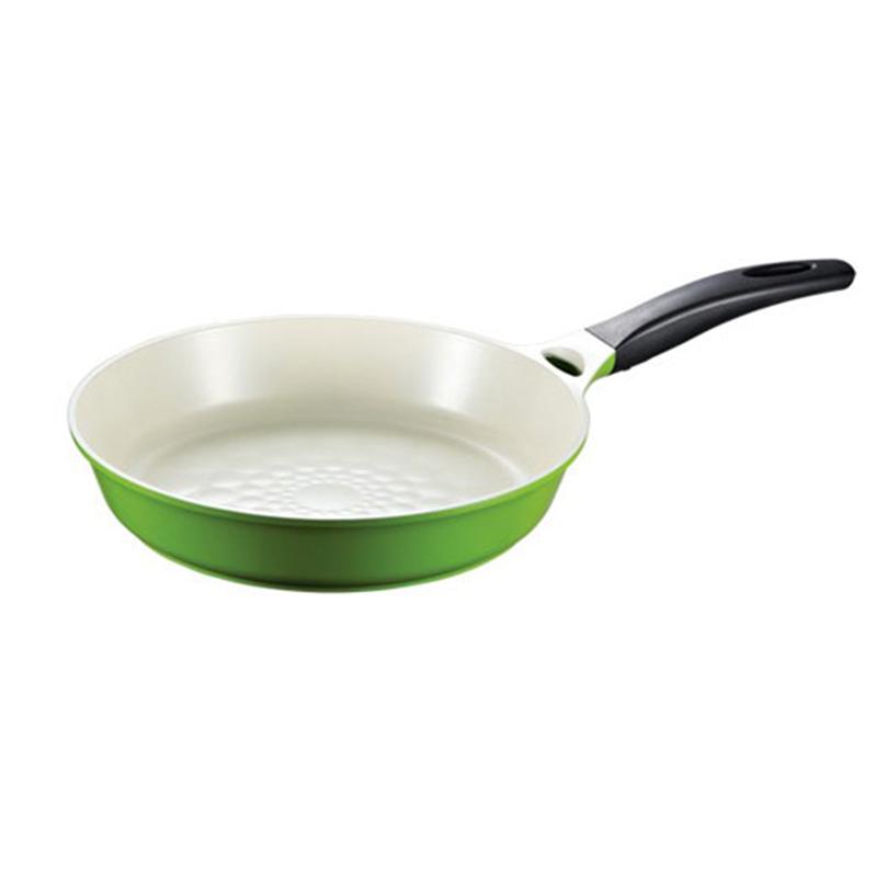 Lock & Lock LCA2283 L&L Cookplus Ceramic 28Cm Flying Pan Green