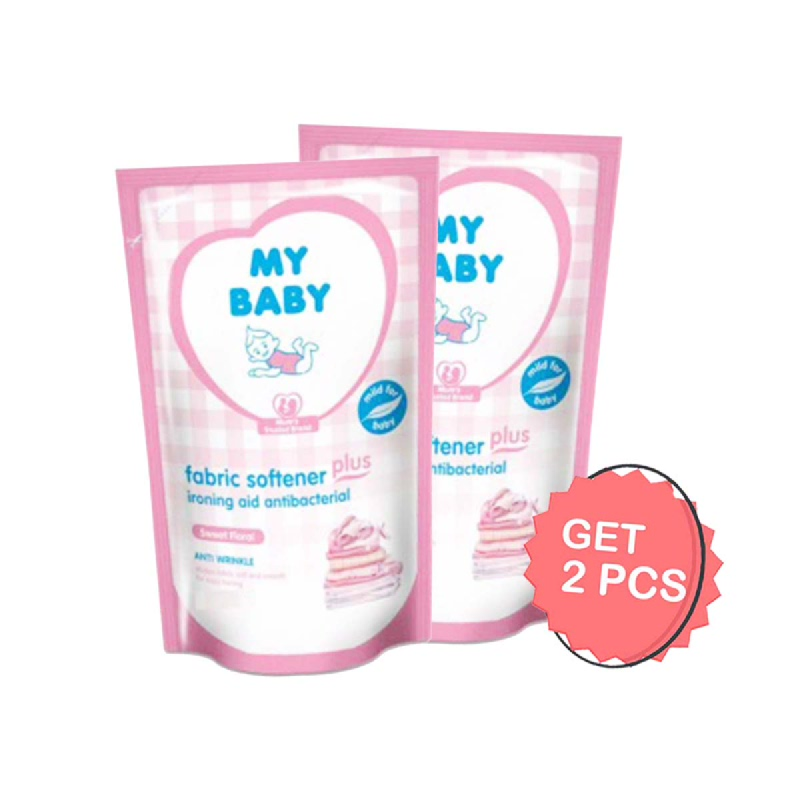 My Baby Fabric Softener Plus Ironing Aid Sweet Floral 1500 Ml (Get 2)