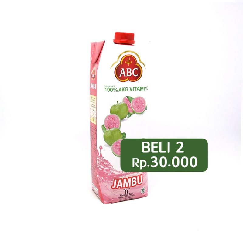 Abc Guava Juice 1L (Beli 2 Rp.30.000)