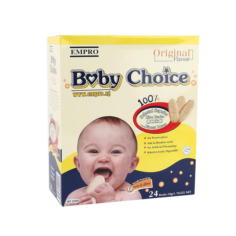 Baby Choice Rice Crackers Original 50 Gr
