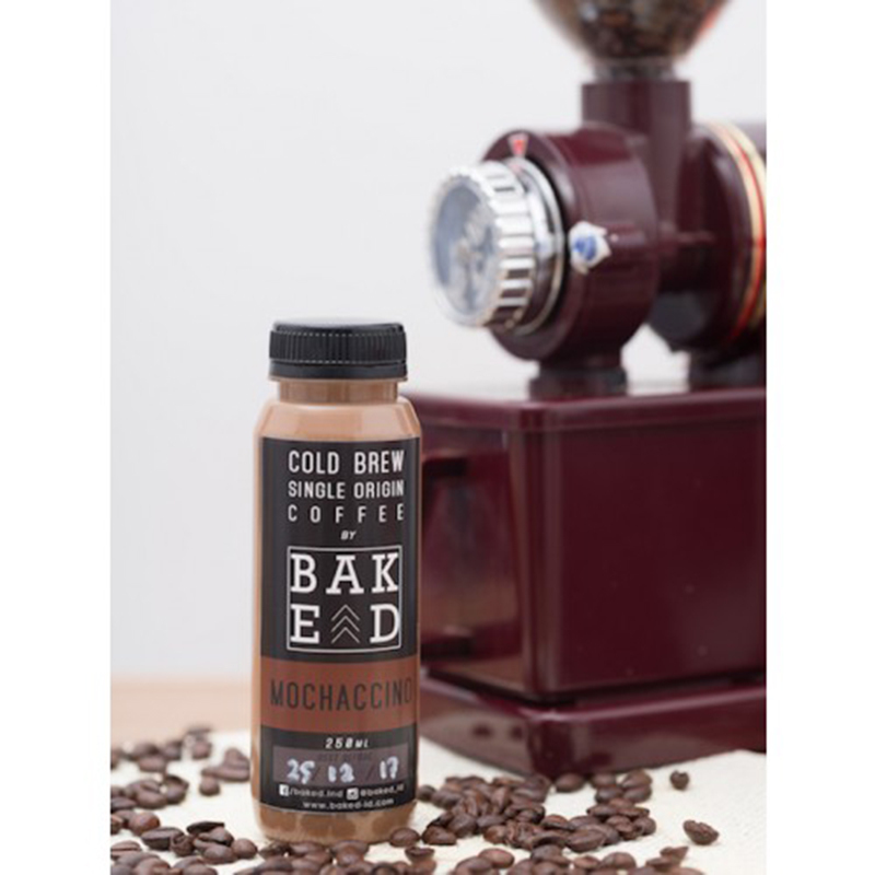 Baked Indonesia - Mochacinno Latte Cold Brew Coffee (isi 4 botol)