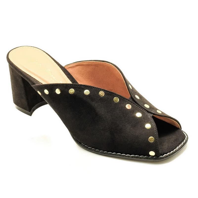 Apple Green Viveca Heels Black