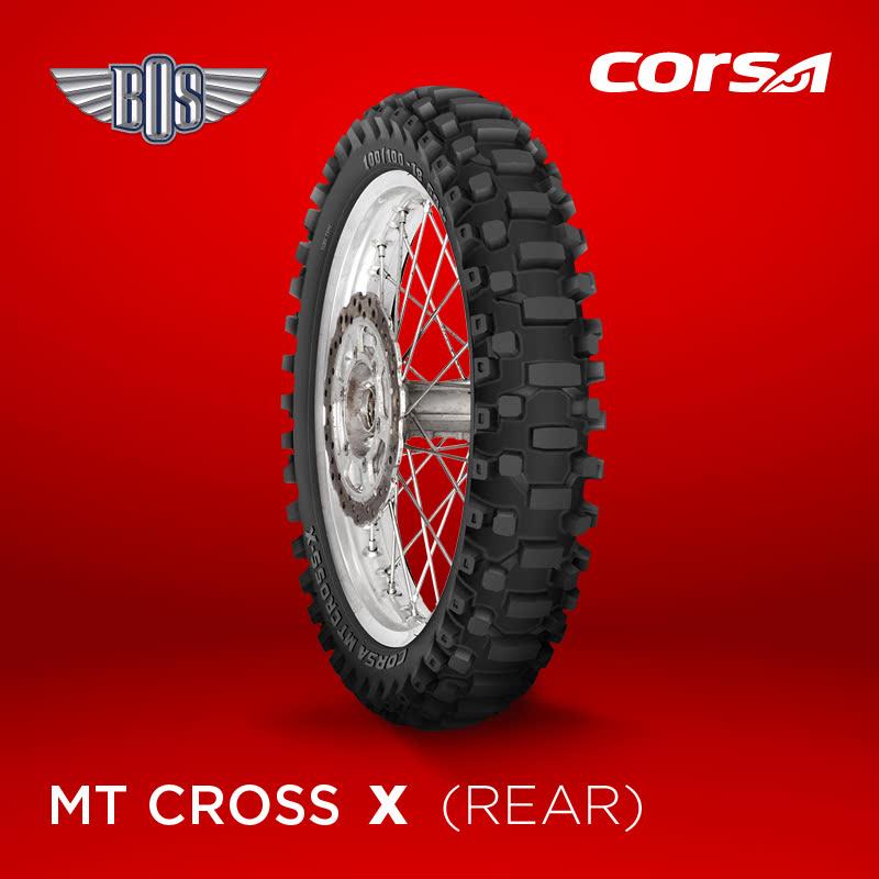 Ban Motor Corsa MT Cross-X  (Rear)-80-100-17-Tubeless- GRATIS JASA PASANG