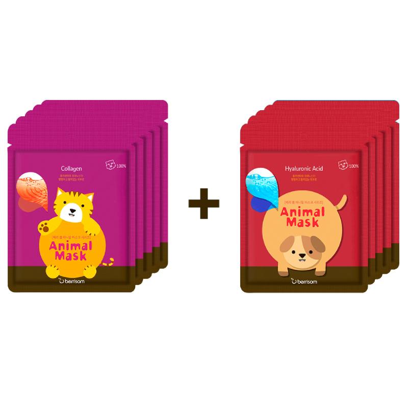 Berrisom Animal Mask Series - Cat 5Pcs + Animal Mask Series - Dog 5Pcs