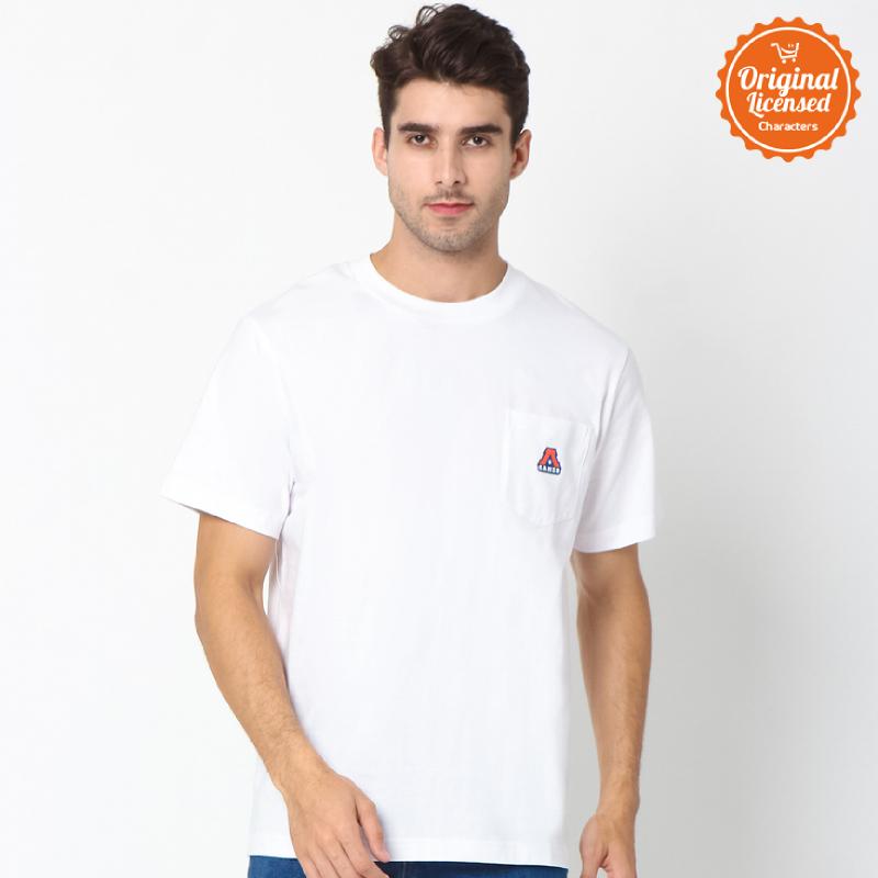 Asian Games 2018 T-Shirt Adults Pocket Logo Tee White