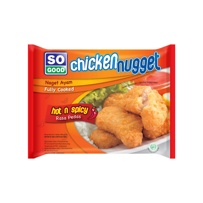 So Good Ayam Nugget Pedas 400 Gr