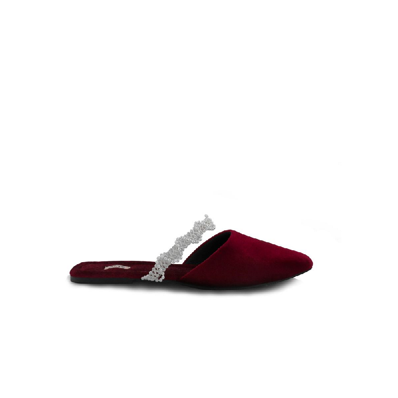 AliveLoveArts Roman Sandals Mules Maroon