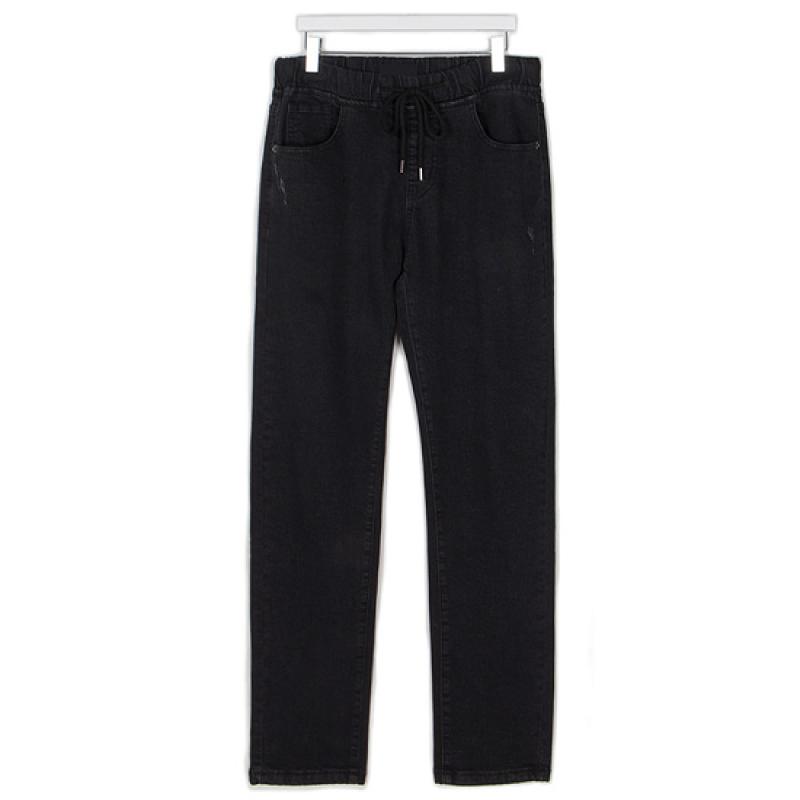 Banding Denim Pants - Black
