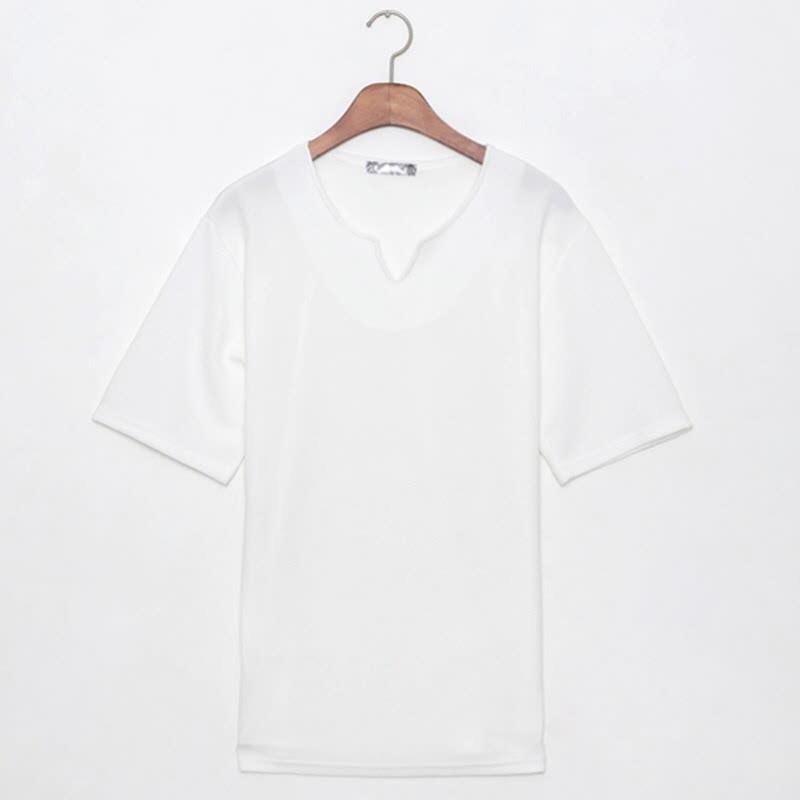 Lynwood Placket Short Sleeve T-shirt WH